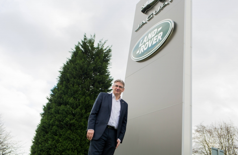 Julian Knight MP at Jaguar Land Rover.