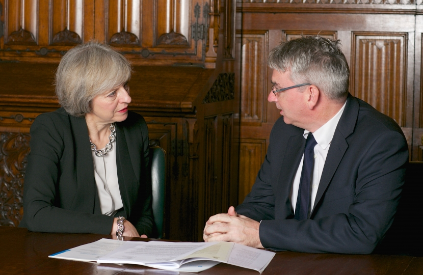 Theresa May MP and Julian Knight MP